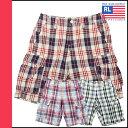衝撃価格 ★ ポイント10倍 送料無料 ポロジーンズ ラルフローレン Polo Jeans Co. ショートパンツ [ チェック柄 大きめポケット ]3カラー コットン メンズ [ 正規 あす楽 ]【10】