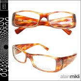アランミクリ alain mikli メガネ 眼鏡 AL0803 0024 ブラウン セルフレーム メガネ サングラス メンズ レディース