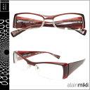 アランミクリ alain mikli メガネ 眼鏡 ダークレッド A0491 16 セルフレーム サングラス メンズ レディース [S50]