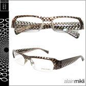 アランミクリ alain mikli メガネ 眼鏡 AL0807 0017 ブラウン クリア セルフレーム メガネ サングラス メンズ レディース あす楽 【SS20】