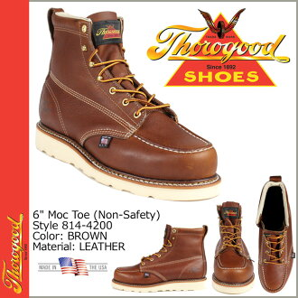 Thorogood by THOROGOOD 814 6-inch モックトゥ boots-4200 6INCH MOC TOE BOOT D wise EE wise oil leather mens