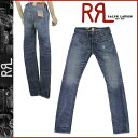 Double are L RRL Ralph Lauren vintage denim [RRL LUNCH HIT #4860139RRRF] indigo blue cotton [Lady's] bottoms INDIGO BLUE DENIM [authorized free shipping] [RCP]