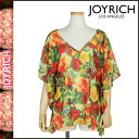 Joey Rich JOYRICH tunic [yellow] F1208OP floral design polyester Lady's [authorized comfort free shipping tomorrow] [Father's Day]