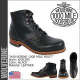 ウルヴァリン WOLVERINE 1000マイル プレーントゥ ブーツ [ブラック] W05300 1000 MILE BOOT ORIGINAL レザー メンズ [あす楽 正規]【繁】【after