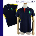0472765 Ralph Lauren RALPH LAUREN polo shirt [a navy X multi-] US OPEN cotton Lady's [authorized comfort free shipping tomorrow] [Father's Day]