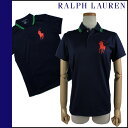 0472771 Ralph Lauren RALPH LAUREN polo shirt [a navy X multi-] US OPEN cotton Lady's [authorized comfort free shipping tomorrow] [Father's Day]
