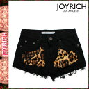 Joey Rich JOYRICH short pants [black] F1270PT Patch Leaopard Short cotton Lady's [authorized comfort free shipping tomorrow] [RCP]