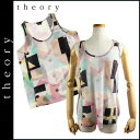 Theory theory no sleeve shirt [multi-] C0323522 TONIANI linen Lady's [authorized comfort tomorrow] [Father's Day]