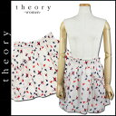[deep-discount ★ hard profit] theory theory skirt [a white X multi-] C044302R JESMINA cotton Lady's [authorized comfort free shipping tomorrow] [GO] [RCP]