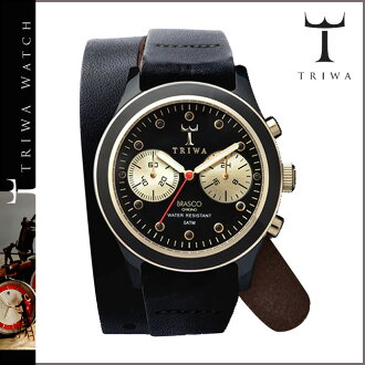 Tri TRIWA×Tarnsjo watch DCAC 108 EBONY TWIST GOLD BRASCO CHRONO leather mens Womens 2013 new