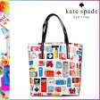 [SOLD OUT]送料無料 ケイトスペード kate spade トートバッグ [ホワイト×マルチ] WKRU1505 DAYCATION パテントレザー レディース [ 正規 あす楽 ]