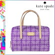 [SOLD OUT]送料無料 ケイトスペード kate spade ボストンバッグ [ヴァイオレット×クリーム] WKRU1691 547 KALEIGH レザー レディース VIOLET×CREAM [ 正規 あす楽 ]
