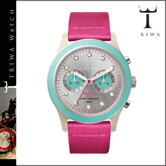 Tri TRIWA watches DCAC 113 BRASCO CHRONO FLAMINGO leather mens Womens 2013 new Flamingo