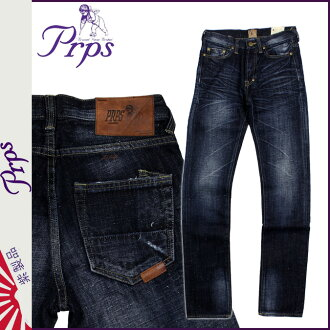 ピーアールピーエス PRPS vintage denim E63P154VRAMBLER COTTON LINEN JEAN SKINNY FIT LOW FRONT RISE cotton men's 2013 new
