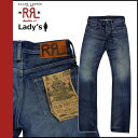 Double are L RRL DOUBLE RL Ralph Lauren vintage denim [indigo] 02B-SBC SLIM BOOTCUT MADE USA bootcut cotton Lady's [authorized comfort free shipping tomorrow] [RCP]
