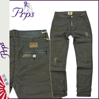 ピーアールピーエス PRPS vintage denim E63P100 PEWABIC Hickory cotton men's 2013 new