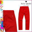 [SOLD OUT]送料無料 ケイトスペード kate spade スキニーパンツ [レッド] OUMU0098 600 CITY LIGHTS コットン レディース RED [ 正規 あす楽 ]