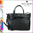 [SOLD OUT]送料無料 ケイトスペード kate spade 2WAY トートバッグ [ブラック] WKRU1799 001 GOLDIE パテントレザー レザー レディース BLACK [ 正規 あす楽 ]