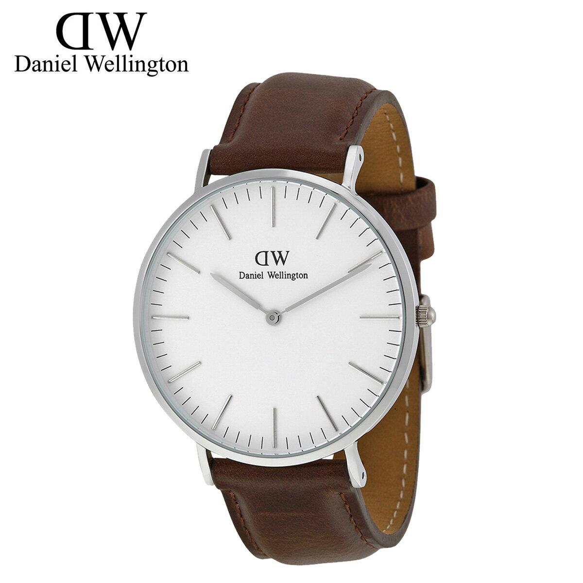 ダニエルウェリントン Daniel Wellington 40mm 腕時計 メンズ  CLASSIC BRISTOL  シルバー レザー [S20]  送料無料  ダニエル ウェリントン Daniel Wellington 腕時計 40ミリ 正規  通販