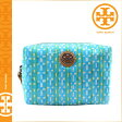 [SOLD OUT]送料無料 トリーバーチ TORY BURCH コスメ ポーチ [ ターコイズチェック ] 21139135 423 化粧ポーチ レディース [ 正規 あす楽 ]