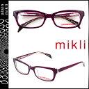 ミクリ mikli アランミクリ メガネ 眼鏡 パープル クリア ML1218 C00J セルフレーム alain mikli サングラス メンズ レディース