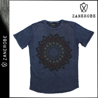 [SOLD OUT] ゼンローブ ZANEROBE short sleeve T shirt [Navy acid] TEE men's brand [regular]