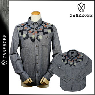 SHIRT men's brand ゼンローブ ZANEROBE button-down shirt [Navy] [regular]
