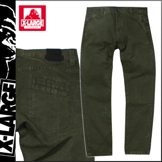 Extra large XLARGE corduroy underwear [olive] G CAMO PANTS men [3/25 Shinnyu load] [regular]
