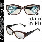 アランミクリ alain mikli メガネ 眼鏡 ブラウン ブラック セルフレーム メンズ レディース あす楽