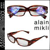 アランミクリ alain mikli メガネ 眼鏡 レッド セルフレーム メンズ レディース あす楽
