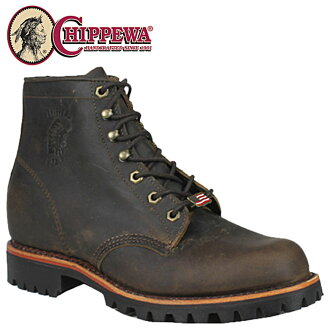 Chippewa CHIPPEWA work boots 20080 6INCH HERITAGE LACE UP STEEL TOE D wise leather mens