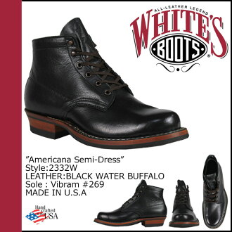«Booking products» «11 / 7 days stock» whites boots WHITE's BOOTS 5 inch Americana semi boots 2332 W 5inch AMERICANA SEMIDRESS BOOTS E wise BLACK WATER BUFFALO mens