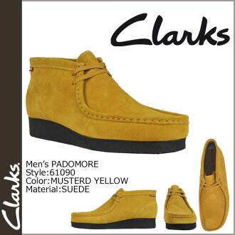 Clarks CLARKS Padmore boot Wallaby 61090 PADMORE SUEDE mens YELLOW WALLABEE