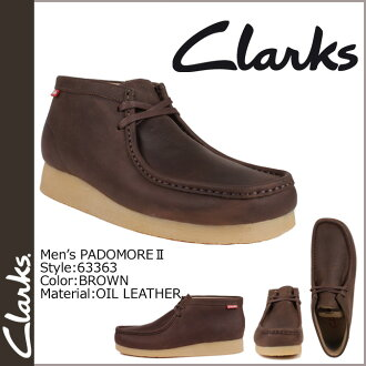 Clarks CLARKS Padmore boot Wallaby 63363 PADMORE 2 oil leather mens BROWN WALLABEE