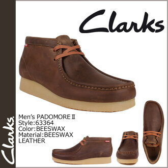 Clarks CLARKS Padmore boot Wallaby 63364 PADMORE 2 leather men's BEES WAX LEATHER