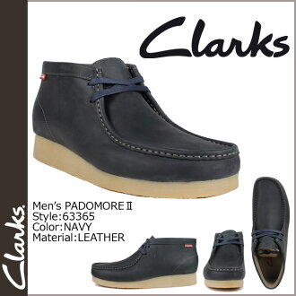 Clarks CLARKS Padmore boot Wallaby 63365 PADMORE 2 leather mens NAVY