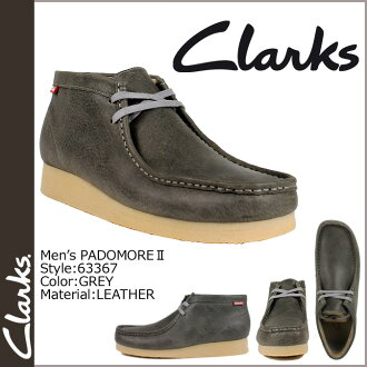Clarks CLARKS Padmore boot Wallaby 63367 PADMORE 2 leather mens GREY WALLABEE