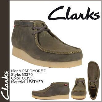 Clarks CLARKS Padmore boot Wallaby 63370 PADMORE 2 leather mens OLIVE