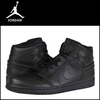 Nike NIKE AIR JORDAN 1 MID 554724-010 sneakers Air Jordan 1 mid leather men's Air Jordan