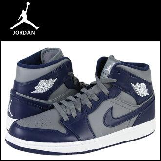 Nike NIKE AIR JORDAN 1 MID 554724-006 leather men's Air Jordan 1 mid COLLEGE PACK