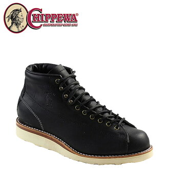 [SOLD OUT]-Chippewa CHIPPEWA 5-inch monkey boots [Black] 91072 5INCH LACE TO BOOTS EE wise leather men's [regular]