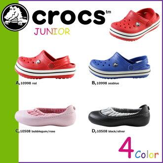 10 點 x Crocs crocs 涼鞋 4 種國外真正交叉光戶外運動阻塞 Jibbitz 少年男子