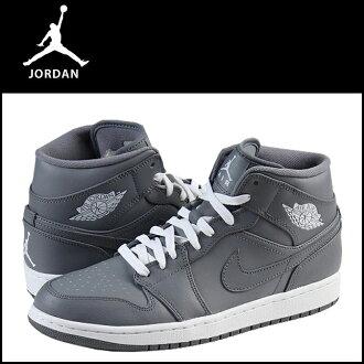 Nike NIKE AIR JORDAN 1 MID 554724-003 sneakers Air Jordan 1 mid leather men's Air Jordan