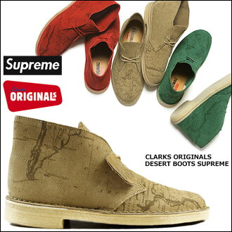 Clarks originals x Supreme Clarks ORIGINALS×Supreme boots desert Desert Boots suede mens Supreme×Nike suede