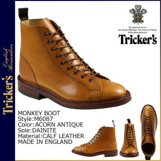 Trickers Tricker's Monkey boots ダイナイトソール M6087 MONKEY BOOT 5 wise calf leather mens Made In ENGLAND Trickers monkey boots