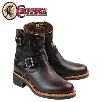 Chippewa CHIPPEWA 7-inch plain to engineer 1901M52 7INCH PLAIN TOE ENGINEER E wise leather men's BOOT