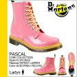 送料無料 ドクターマーチン Dr.Martens レディース R13512652 8ホール ブーツ [ ピンク × イエロー ] PASCAL パテント レザー エナメル [ 正規 あす楽 ]
