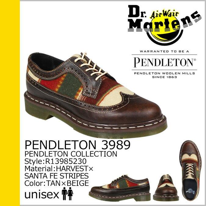 ドクターマーチン Dr.Martens ペンドルトン 3989 5ホール ウィングチップ シューズ  PENDLETON 5EYE SHOE  R13985230 メンズ レディース あす楽