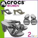 送料無料 クロックス crocs レディース ウィメンズ サイプラス 4 スネーク パターン ヒール [ 2カラー ] WOMEN'S CYPRUS 4 SNAKE PATTERN HEEL クロスライト サンダル アウトドア 14751 [ 正規 あす楽 ]
