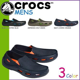 Crocs crocs Crocs tideline canvas 3 color TIDELINE CANVAS canvas x cross light men's slip-on loafers 14999 outdoors [new stock mid-may] [regular]